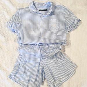 Ralph Lauren Matching PJ Short Sleeve/Short Set